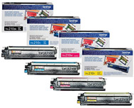 Brother TN210 OEM 4-Pack Toner Cartridge Combo